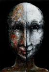 Piotr Kamieniarz: *Das doppelte Porträt*, 2015, Acryl/Papier,  38 x 26 cm