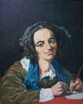 Johannes Grützke: *Porträt Fanny Hensel*,14.9.2010, Öl/Leinwand, 100 x 80 cm