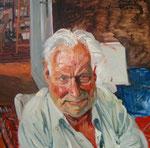 Johannes Grützke: *Tilman Lehnert*, 2004, Öl/Leinwand, 100 x 100cm