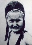 Heike Ruschmeyer: *Karin - Sommer 39 (II)*, 2007, Ölfarbe, Papier / MdF, 30 x 21 cm