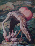 Yongbo Zhao: *Nachwuchs*, 2002, Öl/Leinwand, 80 x 60 cm