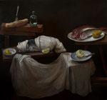 Pavel Feinstein: *N 2414*, 2018, Öl/Leinwand, 140 x 150 cm