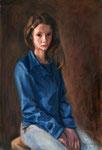 Bettina Moras: *Marlene*, 2017, Öl/Leinwand, 85 x 65 cm
