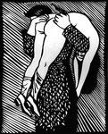 Roland Topor: *Tableau de chasse* (Jagdbild), 1980, Linolschnitt, 37 x 37 cm