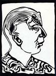 Roland Topor: *Couvre chef* (Herrschaftliche Kopfbedeckung), 1978, Linolschnitt, 38 x 28 cm