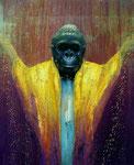 Klaus Ritterbusch: *God in three persons (Residents)*, 2005, Öl/Aluminium, 74 x 60,5 cm