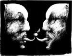 Piotr Kamieniarz: *Sauerkirsche*, 2013, Tusche, Feder/Papier, 28 x 35 cm