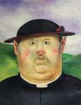 Zhao Bin: *Mann mit Hut*, 2010, Öl/Leinwand, 60 x 50 cm