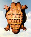 Dietmar Gross: *Familienbildnis*, 1999, Öl/Leinwand, 100 x 85 cm