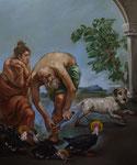 Pavel Feinstein: *N 2411*, 2018, Öl/Leinwand, 170 x 150 cm