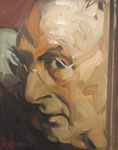 Johannes Grützke: *Selbst 25.10.2014*, Öl/Leinwand, 30 x 24 cm