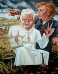 Michael von Cube: *Gute Hirten*, 2006, Öl/Leinwand, 150 x 120 cm