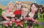 Michael von Cube: *Blüh' im Glanze dieses Glückes*, 2021, Öl/Leinwand, 100 x 160 cm