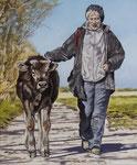 Hartmut Kiewert: *Companion X*, 2018, Öl/Leinwand, 60 x 50 cm