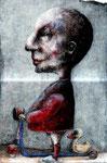 Piotr Kamieniarz: *Der Ausflug*, 2012, Tusche, Feder, Mischtechnik/Papier, 37 x 28 cm