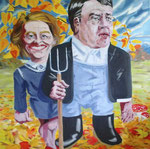 Michael von Cube: *Herbst*, 2015, Öl/Leinwand, 100 x 100 cm
