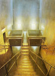 Klaus Ritterbusch: *Benrath III*, 2003, Öl/Nessel auf Holz, 110 x 80 cm