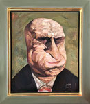 Yongbo Zhao: *Herr in bester Laune*, 2000, Öl/Hartfaser, 60 x 50 cm