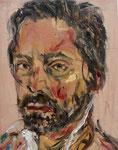 Volker Troche: *Selbstporträt*, 2019, Öl/Leinwand, 20 x 15 cm