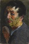 Johannes Grützke: *Porträt Heinrich von Kleist*, 2010, Pastell/Papier, 100 x 70 cm