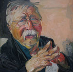 Johannes Grützke: *Porträt Wolf Biermann*, 2011, Öl/Leinwand, 100 x 80 cm