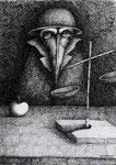 Piotr Kamieniarz: *Der Richter*, 2001, Feder,Tusche/Papier, 50,5 x 36 cm