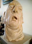 Johannes Grützke: *Kopf*, 2001, Gipsmodell, 58 x 37 cm