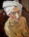 Johannes Grützke: *Der weiße Turban*, 1991, Öl/Leinwand, 100 x 80 cm