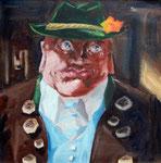 Michael von Cube: *Josef*, 2007, Öl/Leinwand, 70 x 70 cm