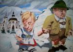 Michael von Cube: *Kloster*, 2010, Öl/Leinwand, 100 x 140 cm