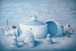 Bruno Pontiroli: *L'effet boule de neige*, 203, Öl/Leinwand, 97 x 146 cm