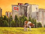 Hartmut Kiewert: *Ruine VII*, 2017, Öl/Leinwand, 60 x 80 cm