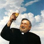 Dietmar Gross: *... auf den Himmel!*, 2001, Öl/Leinwand, 80 x 80 cm