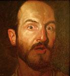 Dietmar Gross: *Selbst*, 1995, Öl/Leinwand, 21 x 19,5 cm