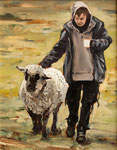 Hartmut Kiewert: *Companion II*, 2016, Öl/Leinwand, 30 x 24 cm