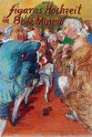 Johannes Grützke: *Figaros Hochzeit im Bodemuseum*, 26.10.2011, Pastell/Papier, 125 x 85 cm (gerahmt)