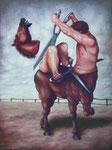 Bruno Pontiroli: *Le cavalier sans tête*, 2010, Öl/Leinwand, 130 x 97 cm