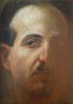 Dietmar Gross: *Selbst*, 1987, Öl/Leinwand, 24 x 17,5 cm