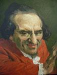 Johannes Grützke: *Moses Mendelssohn*, 2008, Öl/Leinwand, 100 x 80 cm