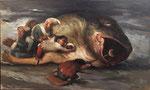 Yongbo Zhao: *Seht, die Korruption gedeiht überall*, 2015, Öl/Leinwand, 90 x 150 cm