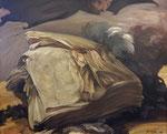 Yongbo Zhao: *Der Blick auf ein Rätsel*, 2010, Öl/Leinwand, 100 x 120 cm