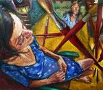Bettina Moras: *Tabula rasa*, 2015, Öl/Leinwand, 110 x 130 cm