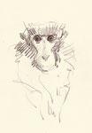 Pavel Feinstein: *Zoo 11.9.18*, 2018, Buntstift/Papier, 21 x 29,7 cm