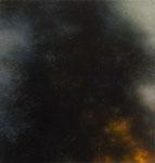 Andreas Leißner: *Rauchwolke IV*, 2016, Öl/Hartfaserplatte, 20 x 19 cm