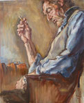 Bettina Moras: *Emidio di Buonaventura*, 2010, Öl/Leinwand, 110 x 90 cm