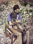 *Oh my dog I*, 2011, Öl/Leinwand, 200 x 150 cm