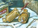 Bettina Moras: *Botti*, 2007, Öl/Nessel, 30 x 40 cm