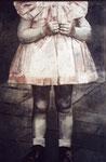 Heike Ruschmeyer: *In Uchte*, 2008, Ölfarbe/Nessel, 210 x 136 cm