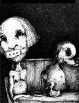 Piotr Kamieniarz: *Ohne Titel*, 2014, Zeichnung mit Tusche, Feder, Stift/Papier, 42 x 30 cm