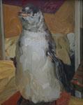 Johannes Grützke: *Pinguin*, 27.2.2009, Öl/Leinwand, 50 x 40 cm